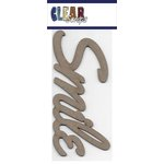 Clear Scraps - Chipboard Embellishments - Word - Script - Smile