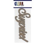 Clear Scraps - Chipboard Embellishments - Word - Script - Surprise
