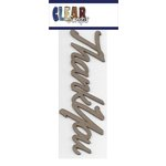 Clear Scraps - Chipboard Embellishments - Word - Script - Thank You