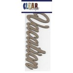 Clear Scraps - Chipboard Embellishments - Word - Script - Vacation