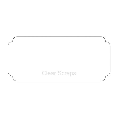 Clear Scraps - Clear Acrylic Plaque - Scallop