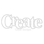 Clear Scraps - Expressions - Clear Titles - Large - Create