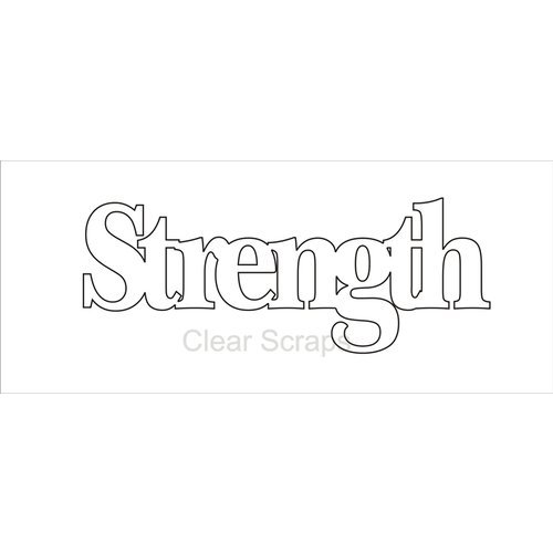 Clear Scraps - Expressions - Clear Titles - Large - Strength