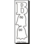 Clear Scraps - Halloween - Expressions - Clear Titles - Extra Large - Vertical - Boo