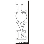 Clear Scraps - Expressions - Clear Titles - Large - Vertical - Love