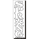 Clear Scraps - Expressions - Clear Titles - Large - Vertical - Spring