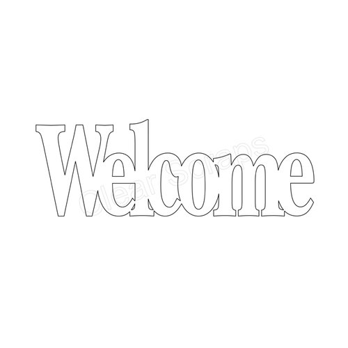 Clear Scraps - Expressions - Clear Titles - Large - Welcome