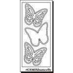 Clear Scraps - Clear Mixers - Clear Acrylic Stencil - Butterflies