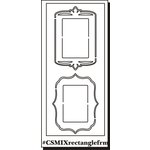 Clear Scraps - Clear Mixers - Clear Acrylic Stencil - Rectangle Frames