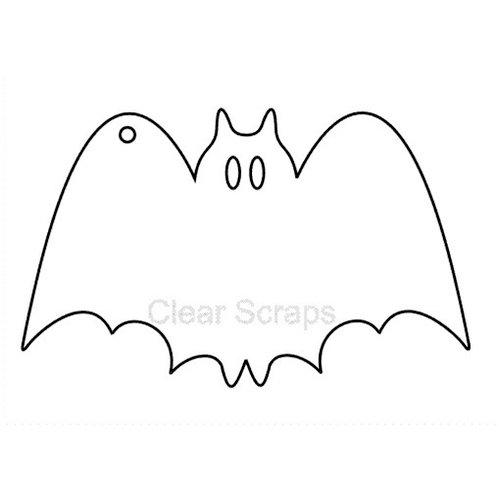 Clear Scraps - Halloween - Clear Album - Mini Bat