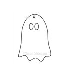 Clear Scraps - Halloween - Clear Album - Mini Ghost