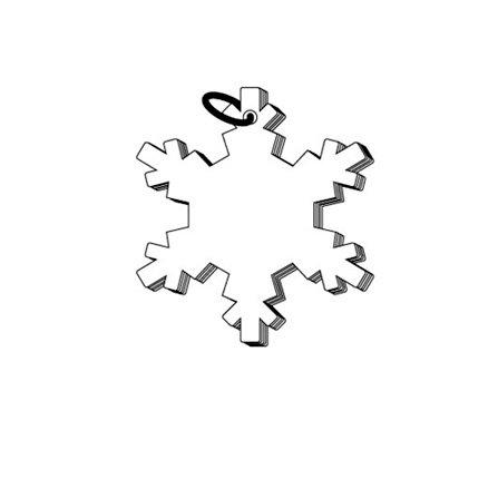 Clear Scraps - Clear Album - Christmas - Mini Snowflake