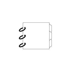 Clear Scraps - Clear Album - Mini Tab