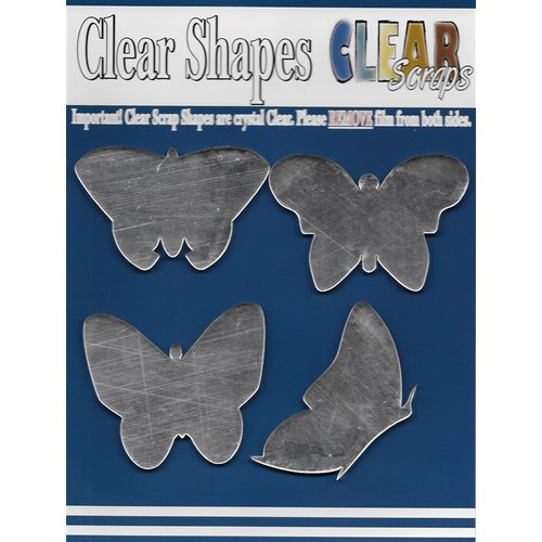 Clear Scraps - Mirror Embellishments - Butterflies