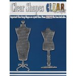 Clear Scraps - Mirror Embellishments - Dress Forms