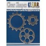 Clear Scraps - Mirror Embellishments - Gears