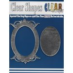 Clear Scraps - Mirror Embellishments - Frame - Oval Center Deco Top