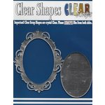 Clear Scraps - Mirror Embellishments - Frame - Oval Fancy