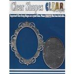 Clear Scraps - Mirror Embellishments - Frame - Oval Fancy