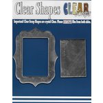 Clear Scraps - Mirror Embellishments - Frame - Rectangle Center Deco