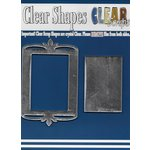 Clear Scraps - Mirror Embellishments - Frame - Rectangle Deco Top
