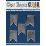 Clear Scraps - Mirror Embellishments - Pennants