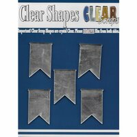 Clear Scraps - Mirror Embellishments - Pennants