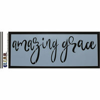 Clear Scraps - Mascils - 6 x 16 Masking Stencil - Amazing Grace