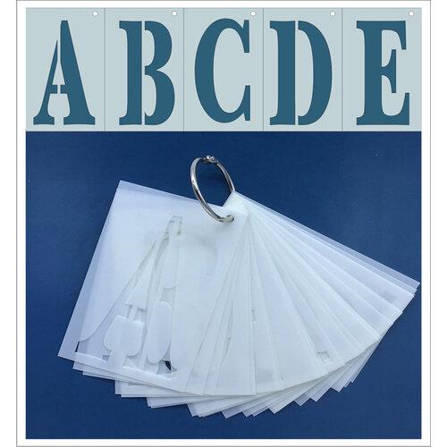 Clear Scraps - Mascils - 2.5 x 4 - Full Set Upper Case ABCs - 26 letters - Stencils