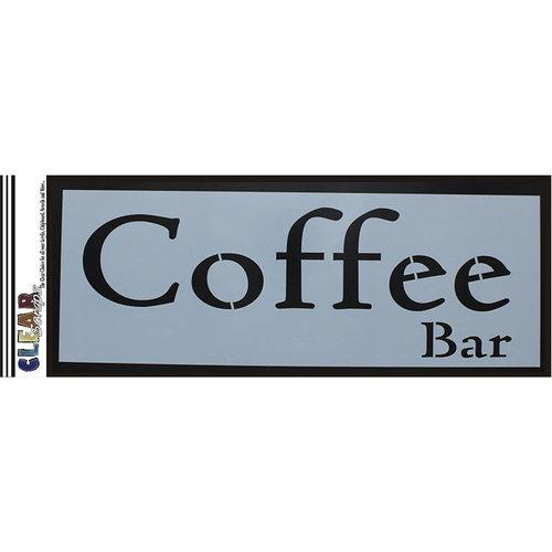Clear Scraps - Mascils - 6 x 16 Masking Stencil - Coffee Bar