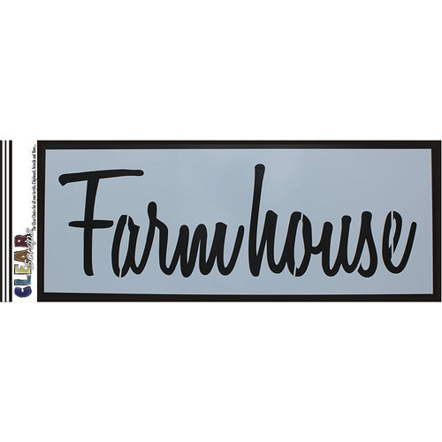 Clear Scraps - Mascils - 6 x 16 Masking Stencil - Farmhouse