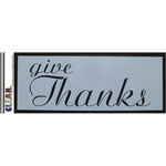 Clear Scraps - Mascils - 6 x 16 Masking Stencil - Give Thanks