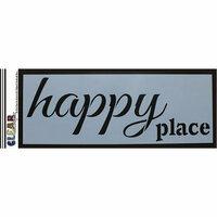 Clear Scraps - Mascils - 6 x 16 Masking Stencil - Happy Place