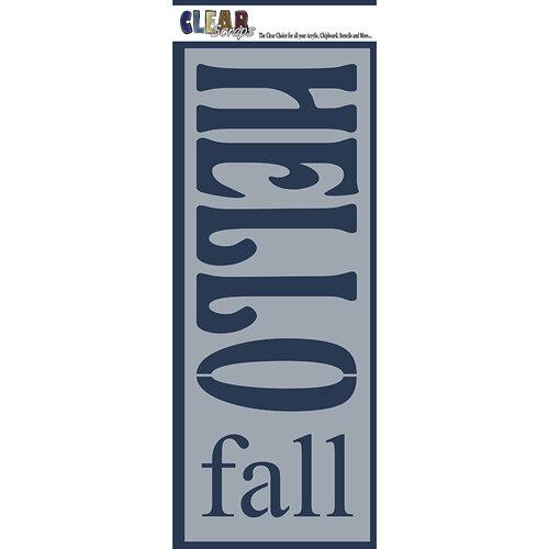 Clear Scraps - Mascils - 6 x 16 Masking Stencil - Hello Fall