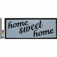 Clear Scraps - Mascils - 6 x 16 Masking Stencil - Home Sweet Home