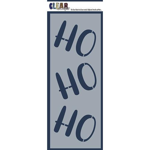 Clear Scraps - Christmas - Mascils - 6 x 16 Masking Stencil - Ho Ho Ho