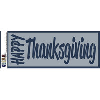 Clear Scraps - Mascils - 6 x 16 Masking Stencil - Happy Thanksgiving