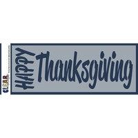 Clear Scraps - Mascils - 6 x 16 Masking Stencil - Happy Thanksgiving