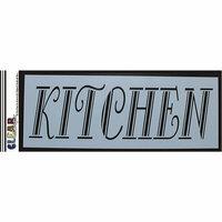 Clear Scraps - Mascils - 6 x 16 Masking Stencil - Kitchen