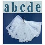 Clear Scraps - Mascils - 2.5 x 4 - Full Set Lower Case ABCs - 26 letters - Stencils