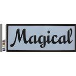 Clear Scraps - Mascils - 6 x 16 Masking Stencil - Magical