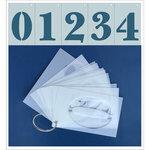 Clear Scraps - Mascils - 2.5 x 4 - Numbers Set - 13 Pieces