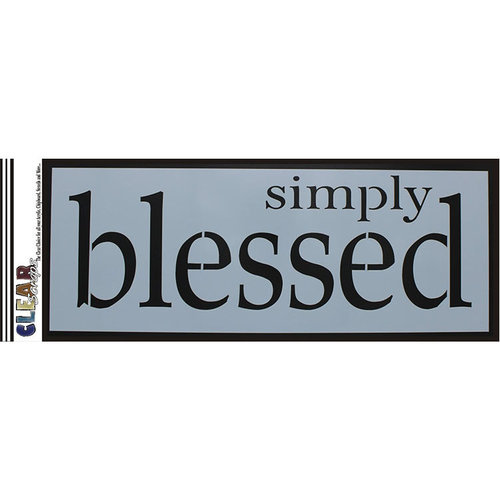 Clear Scraps - Mascils - 6 x 16 Masking Stencil - Simply Blessed