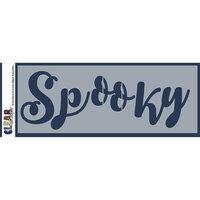 Clear Scraps - Halloween - Mascils - 6 x 16 Masking Stencil - Spooky