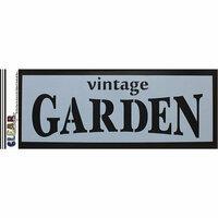 Clear Scraps - Mascils - 6 x 16 Masking Stencil - Vintage Garden