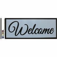 Clear Scraps - Mascils - 6 x 16 Masking Stencil - Welcome