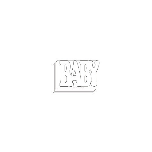 Clear Scraps - Clear Acrylic Mini Album with Cutout Word Cover - Baby
