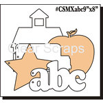 Clear Scraps - Acrylic and Chipboard Album - Mixables - ABC School