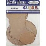 Clear Scraps - Acrylic and Chipboard Album - Mixables - Holiday