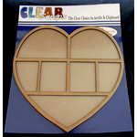 Clear Scraps - 12 x 12 Printer Tray - Heart